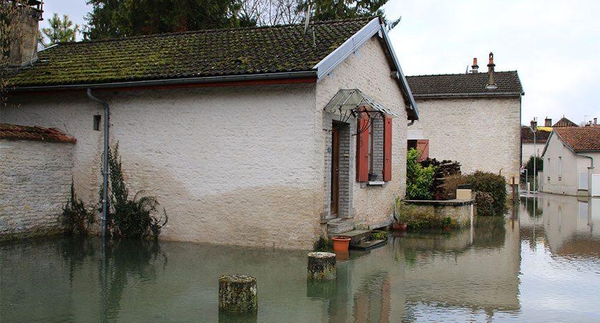 Inondations - Jaucourt